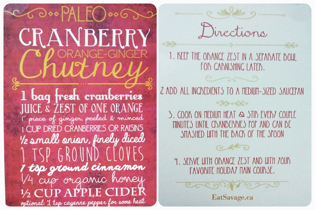 Paleo Cranberry Orange Chutney