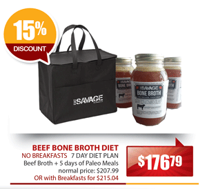 Eat Savage Beef Bone Broth Diet - No Breakfasts