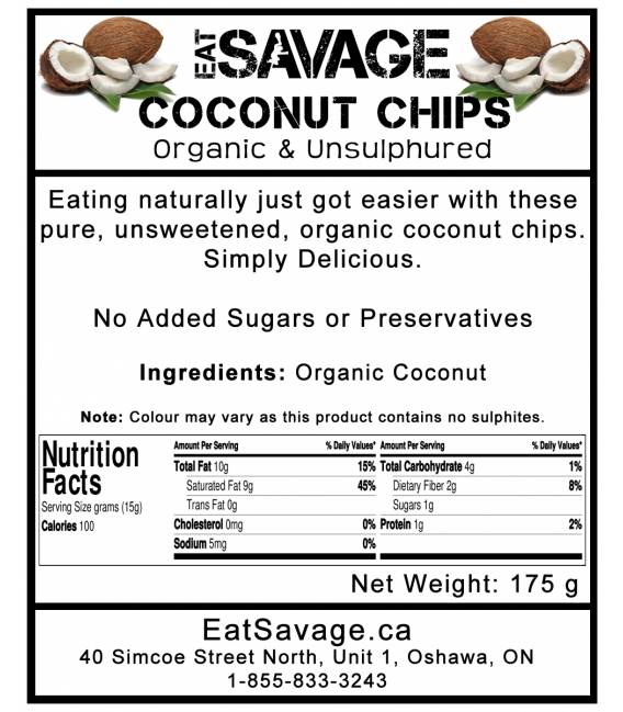 Organic Coconut Chips (Unsulphured & Unsweetened)