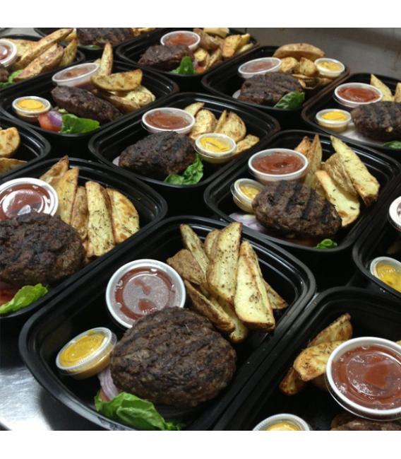 Grass Fed Beef Burger w/ Duck Fat Oven Baked Fries
