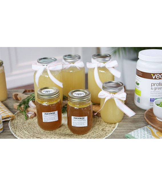Grass fed Beef Bone Broth - Part of our Eat Savage Paleo Toronto Meal Delivery