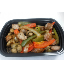 Sausage w/ peppers mushrooms & onions