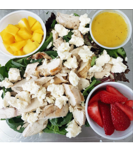 Strawberry Mango Grilled Chicken Salad with Citrus Dressing