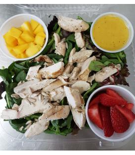 Strawberry Mango Grilled Chicken Salad - NO Cheese