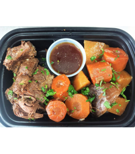 Grass fed Beef Pot Roast with Potatoes Carrots & Onions