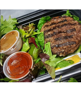 Grass Fed Beef Burger w/ Mixed Greens & Balsamic