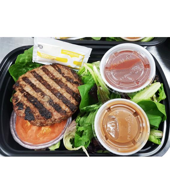 Grass Fed Beef Burger w/ Mixed Greens & Balsamic