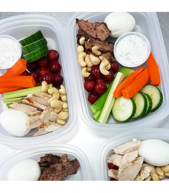 Protein Veggie Boxes - with chicken or steak