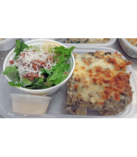 Chicken Zucchini Lasagna with Caesar Salad