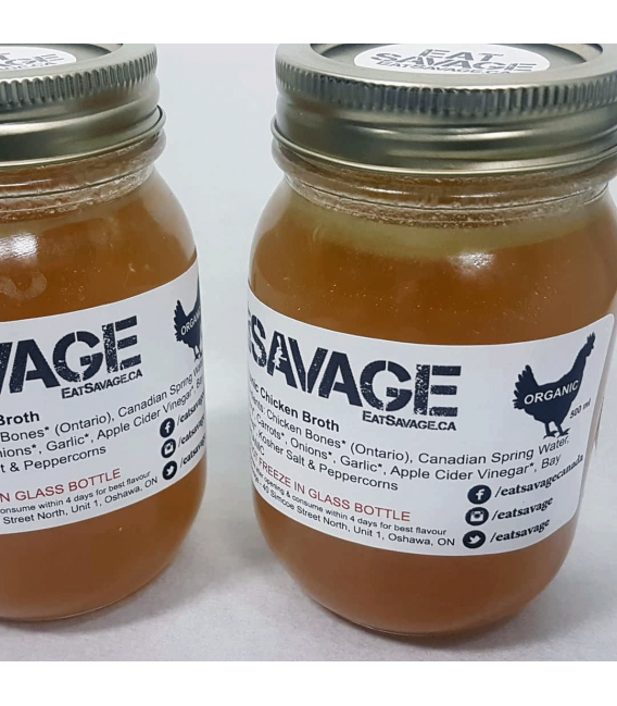 Organic Chicken Bone Broth - new label