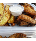 Dill Pickle Chicken Wings with Duck Fat Fries