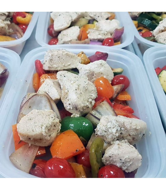Bone Broth Diet Meal of the Week - Deconstructed Chicken Kabobs