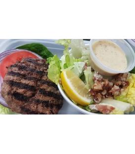 Grass Fed Beef Burger w/ Caesar Salad