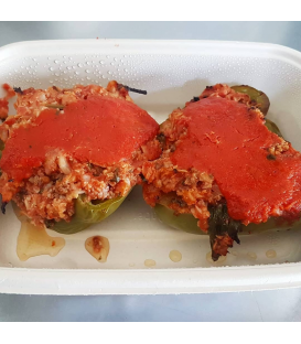 Stuffed Green Peppers with Grassfed Ground Beef