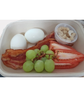 Hardboiled Eggs, Grapes, Cashews