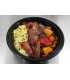 Scrambled Eggs w/ Bacon & Roasted Veggies