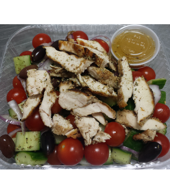 Greek Village Salad with Grilled Chicken - No Cheese