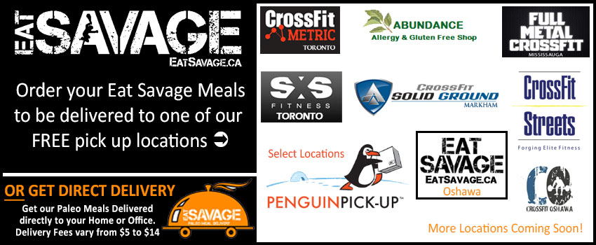 Eat Savage Paleo Meal Delivery Locations in Toronto & GTA