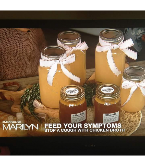 organic chicken bone broth as featured on The Marilyn Denis Show