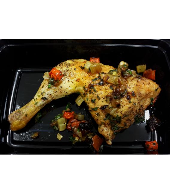 Roasted Organic Chicken Leg Side Dish