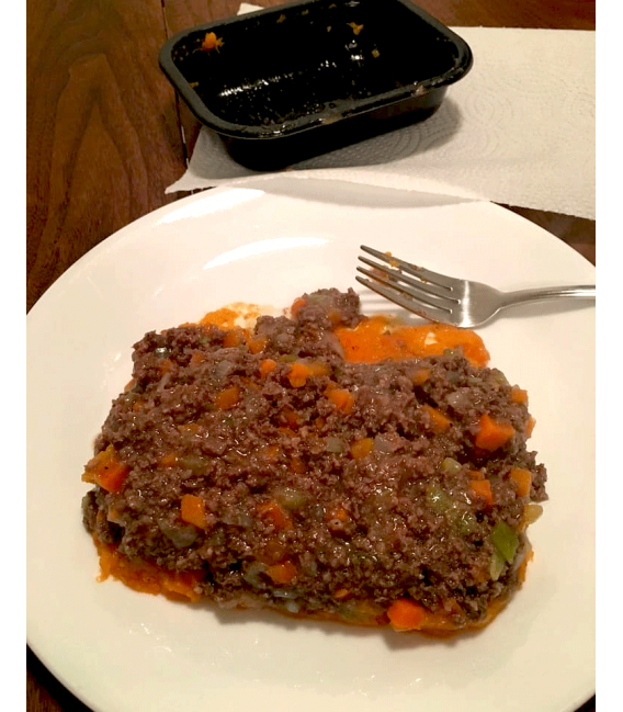 Shepherd's Pie made with Grass Fed Beef & Topped with Veggie Mash