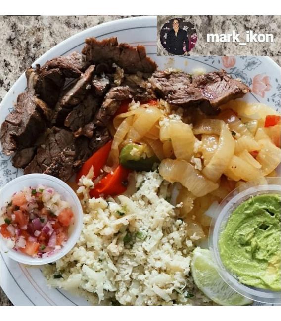 Steak Fajita Bowl - on plate