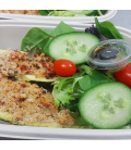 Lemon Pepper Zucchini Boat with Side Salad