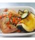 Roasted Organic Chicken Leg w/acorn and zucchini