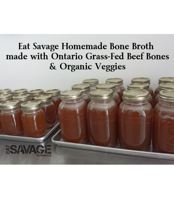 500ml Bone Broth - Grass Fed Beef Bones & Organic Veggies